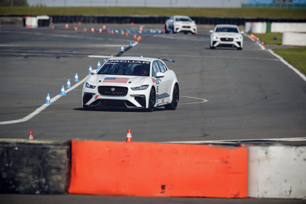Jaguar I-PACE eTROPHY electric racers test for first time