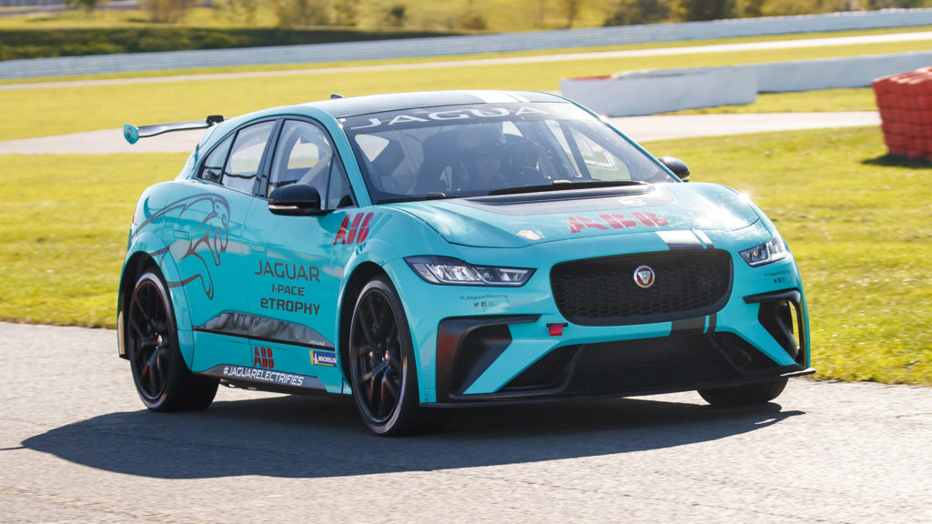 Pro Racer Tests the Jaguar I-Pace eTrophy Race Car