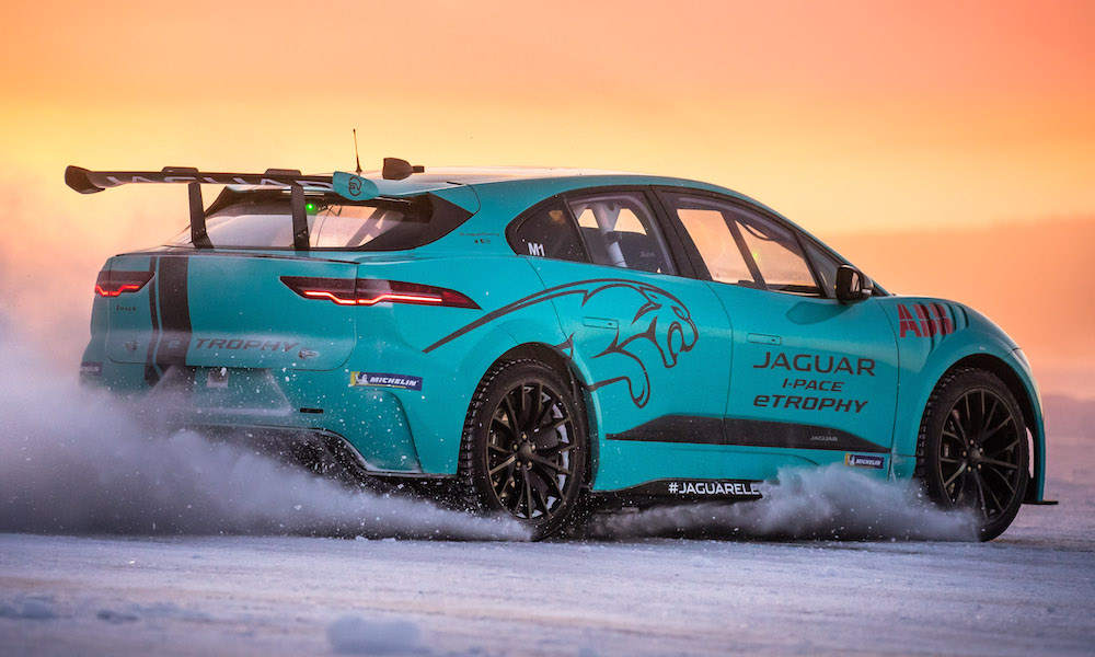 Jaguar I-PACE eTROPHY undergoes cold weather testing in Arjeplog
