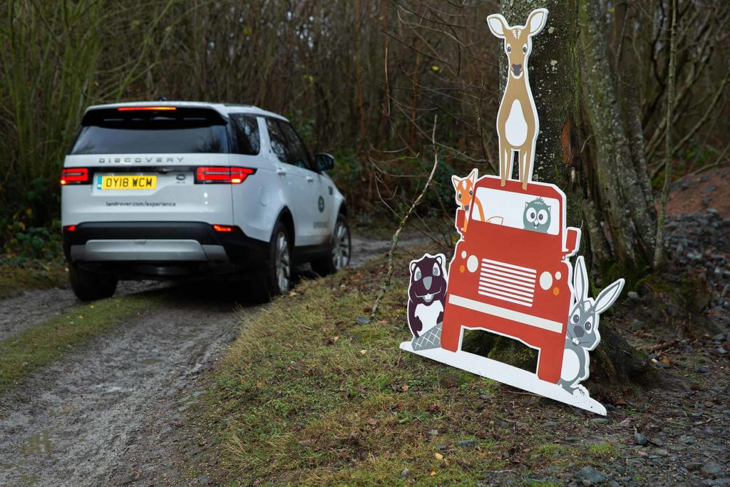 Land Rover turns Eastnor into a winter wonderland for Christmas