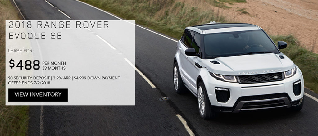 The Sporty 2018 Range Rover Evoque In White