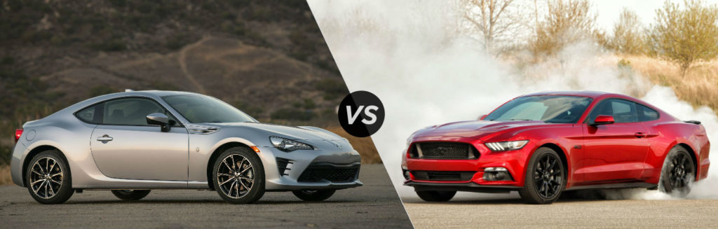Toyota 86 vs Ford Mustang