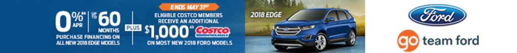 Ford OEM Incentive Offer 2018 May