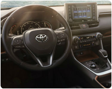 2019 Toyota RAV4 Interior Cabin Dashboard Steering Wheel & Display Audio