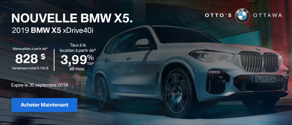 X5 Offer – French