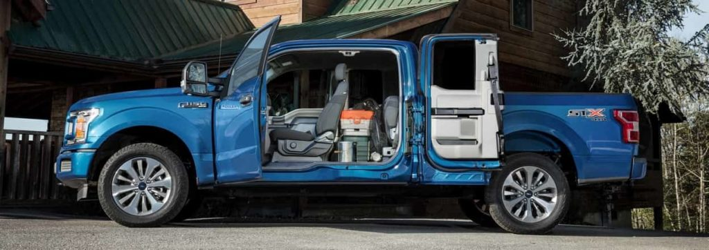 Ford F-150 STX with easy-access second-row swing doors open