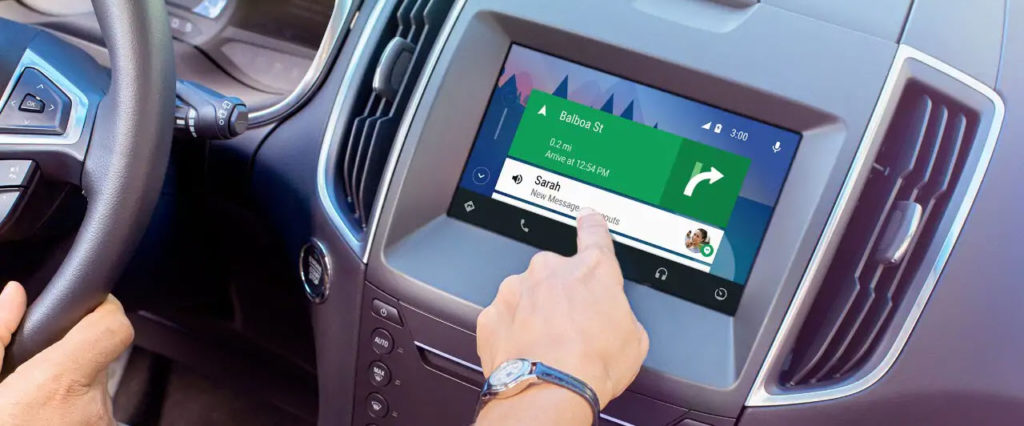 Android Auto interface on Ford SYNC 3