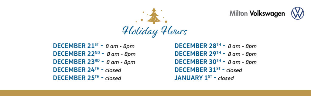 1062a 20 Milton Vw Holiday Hours December 2020
