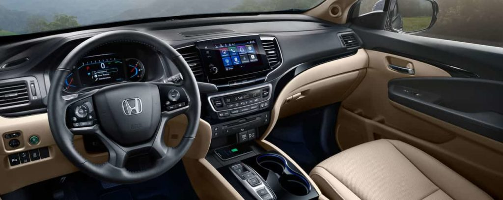 The interior of the 2019 Honda Pilot