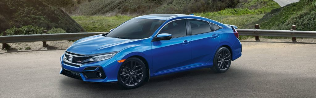 2020 honda civic si sedan in blue
