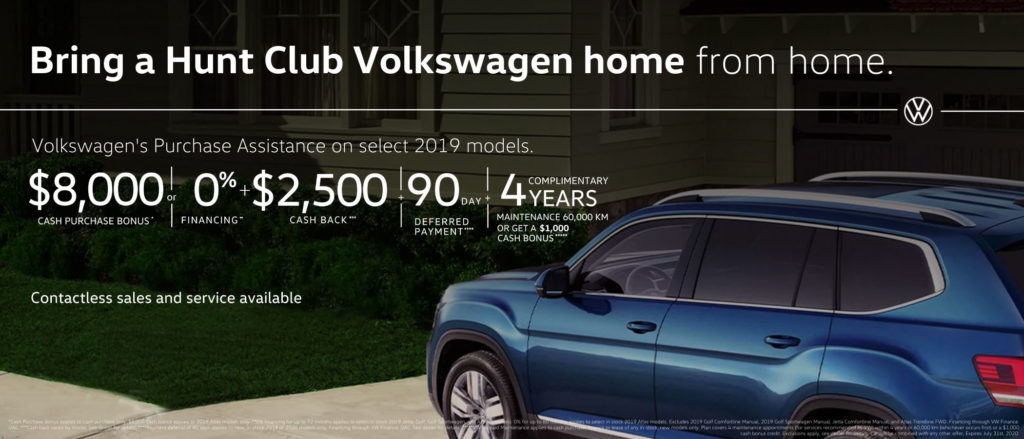 Volkswagen 2019 special sale Hunt Club VW Ottawa