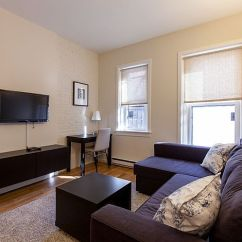 Living Room Boston Rooms With Red Sofas Back Bay Furnished Apartment Rental 304 Newbury Street Unit 2