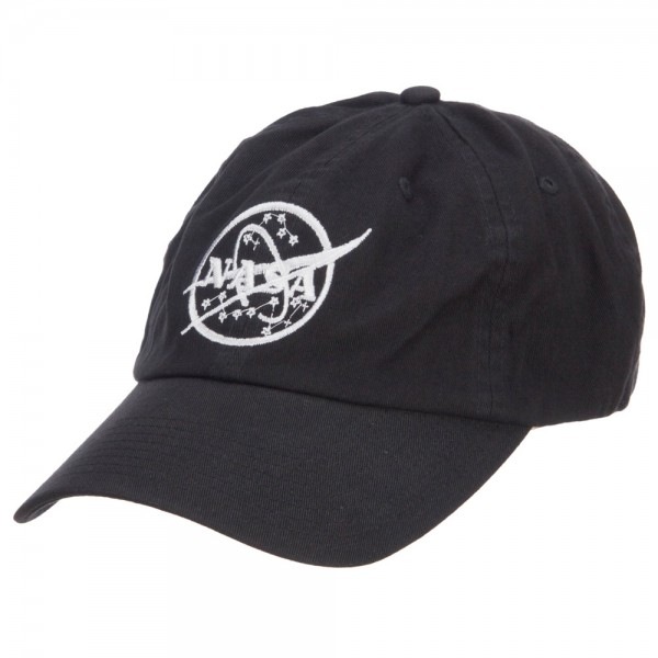 Embroidered Cap Black NASA Logo Embroidered Low Cap