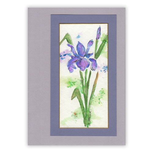 Three Watercolor Flower Cards
