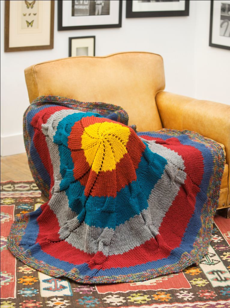 Colorful Knit Throw  FaveCraftscom