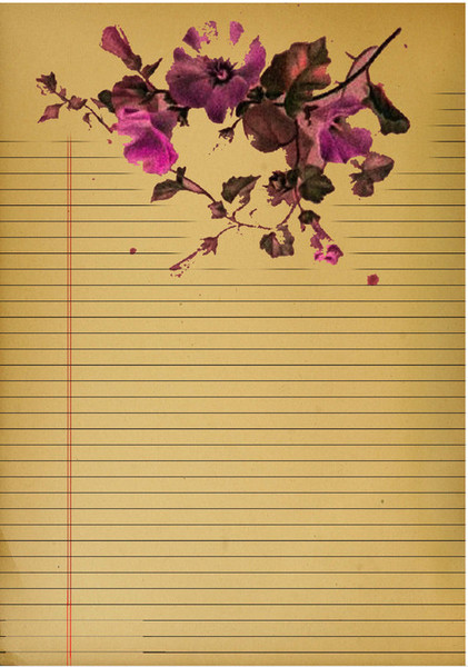 Lovely Vintage Floral Journal Pages