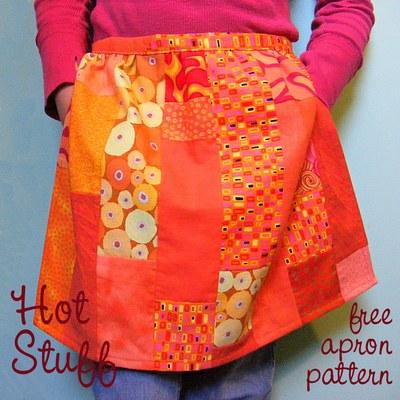 cute kitchen aprons swinging doors printable free apron pattern | allfreesewing.com