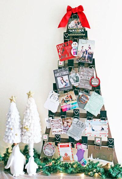 Handmade Mousetrap Christmas Card Display