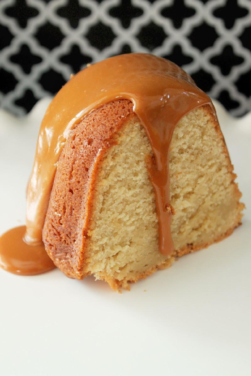 Caramel Pound Cake | FaveSouthernRecipes.com