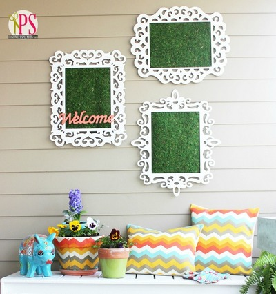 Welcome Spring Diy Wall Art Allfreeholidaycrafts