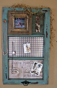 DIY Vintage Window Frame Organizer   FaveCrafts.com