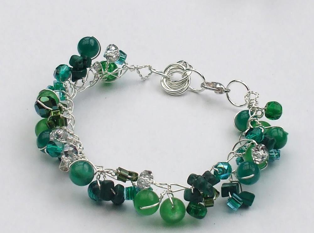 Twisted Wire And Bead Bracelet  Allfreejewelrymakingm