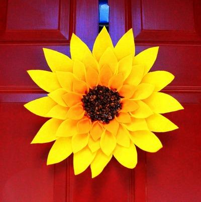 Summer Sunflower Wreath