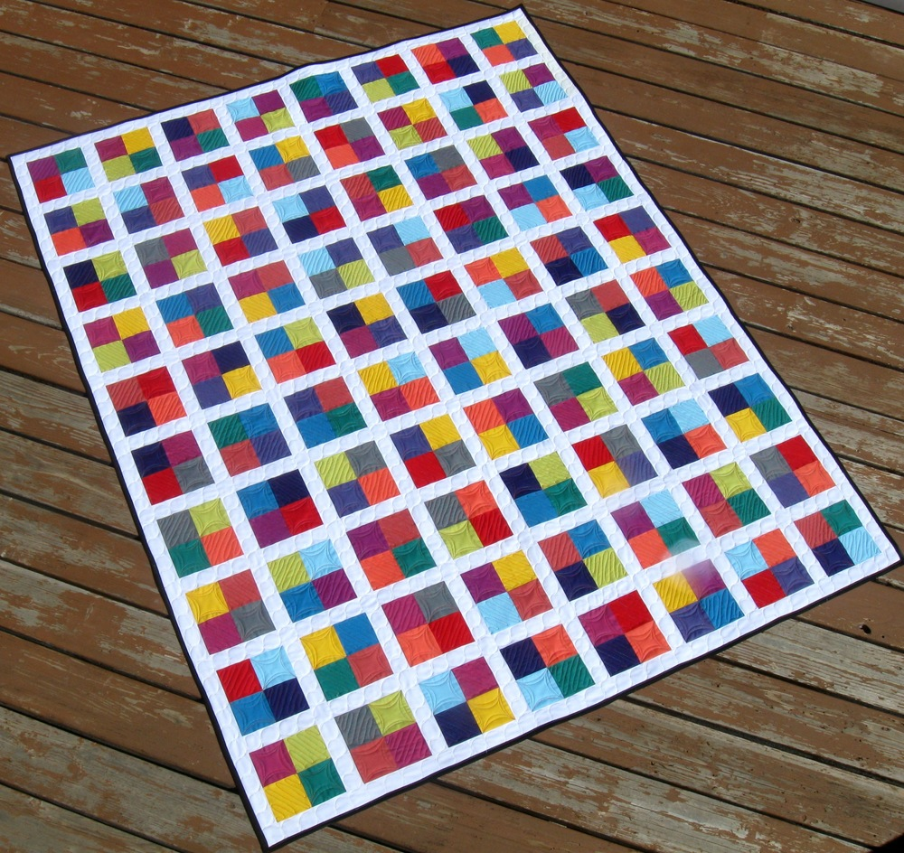 Four Square Free Quilting Pattern  FaveQuiltscom