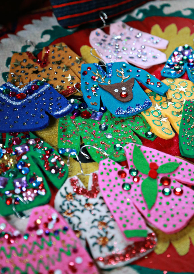 DIY Ugly Christmas Sweater Ornaments