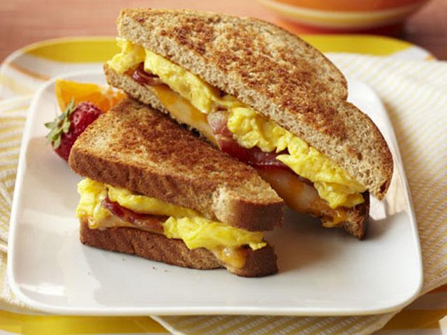 Bacon n Egg Breakfast Grilled Cheese  MrFoodcom
