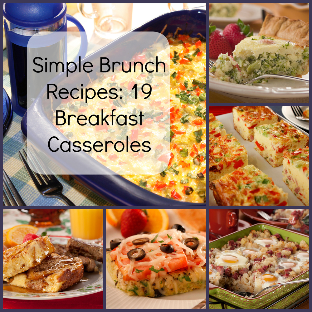 Simple Brunch Recipes 19 Breakfast Casseroles  MrFoodcom