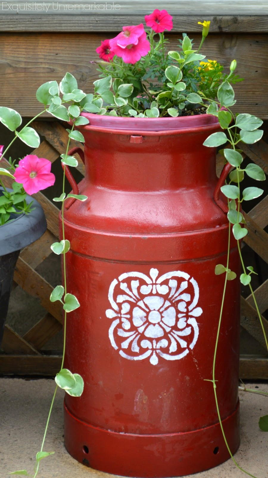 Painted Milk Can Planter AllFreeHolidayCrafts Com