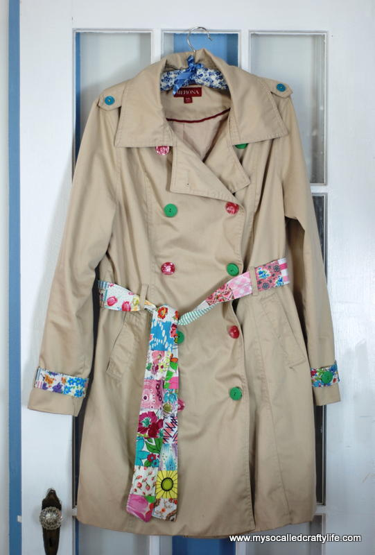 Upcycled Spring Trench Coat  AllFreeSewingcom