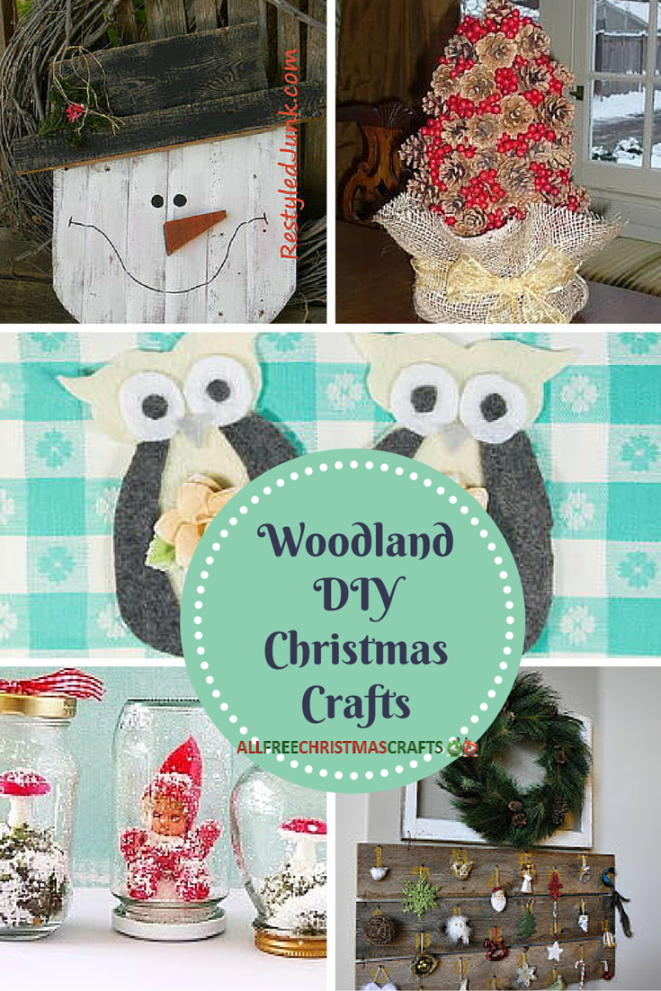 38 Woodland DIY Christmas Crafts