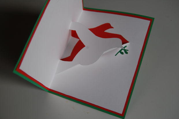 Lovely Dove Christmas Card AllFreePaperCrafts Com
