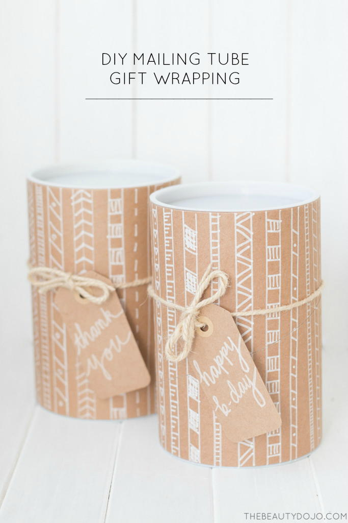 Diy Mailing Tube Gift Wrapping Allfreeholidaycrafts