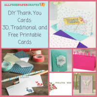 DIY Thank You Cards: 27 3D, Traditional, and Free ...