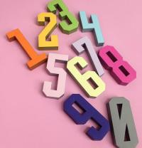 Free Printable Number DIY Wall Decor | AllFreePaperCrafts.com