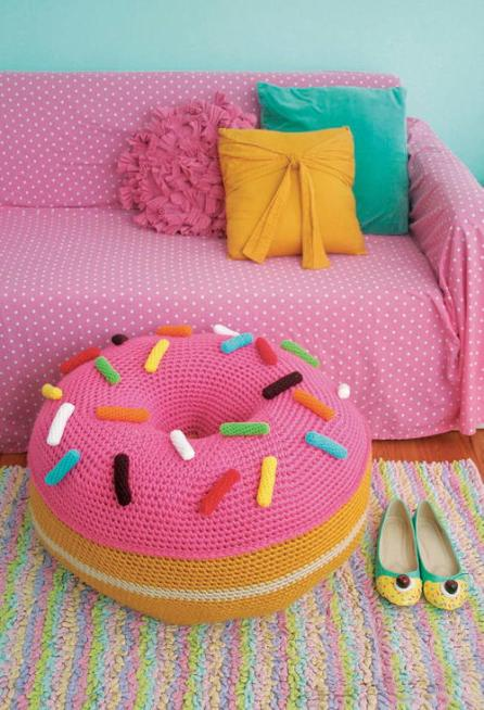 Image result for crochet donut pouf