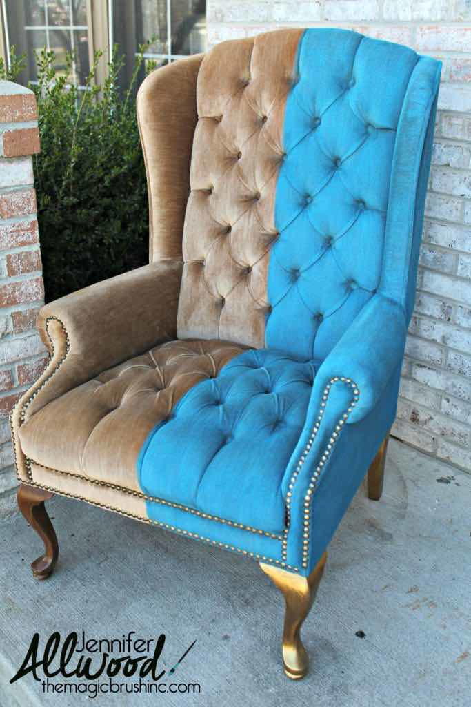 How to Paint Crushed Velvet Furniture  DIYIdeaCentercom