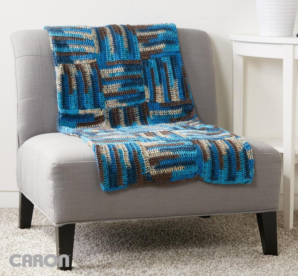 Parquet Tiles Crochet Blanket Pattern  AllFreeCrochetcom