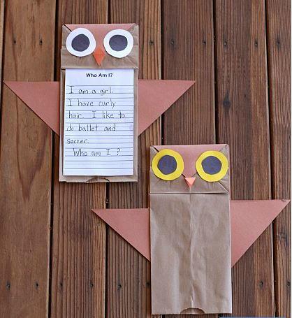 Owl Paper Bag Crafts For Kids