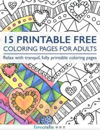 15 Printable Free Coloring Pages for Adults [PDF ...
