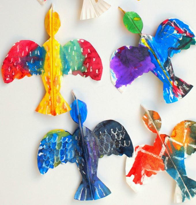Tropical Bird Paper Plate Crafts For Kids