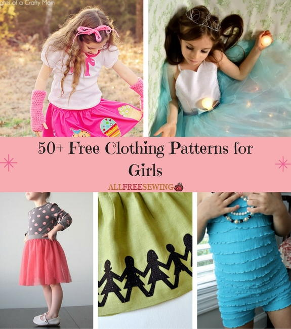 50 Free Clothing Patterns for Girls  AllFreeSewingcom