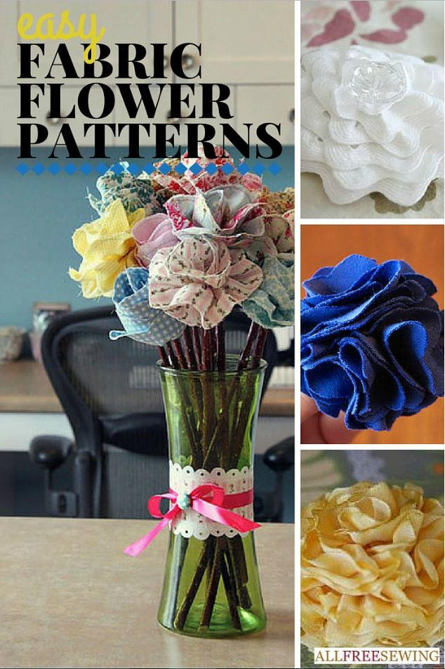 25 Easy Fabric Flower Patterns  AllFreeSewingcom
