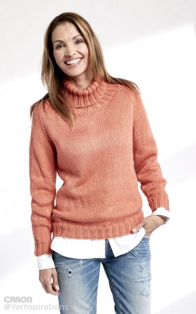 Persimmon Ribbed Turtleneck