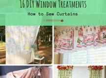 16 DIY Window Treatments: How to Sew Curtains ...