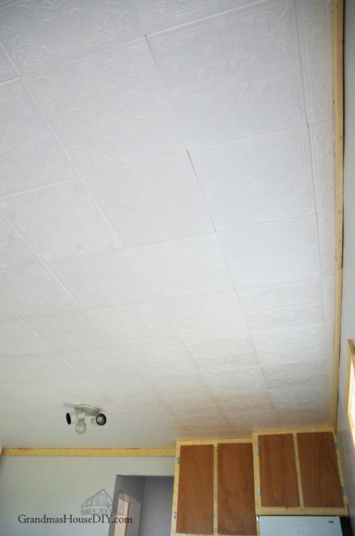 DIY Foam Ceiling Tiles  DIYIdeaCentercom
