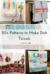20+ Patterns to Make Dish Towels | AllFreeSewing.com